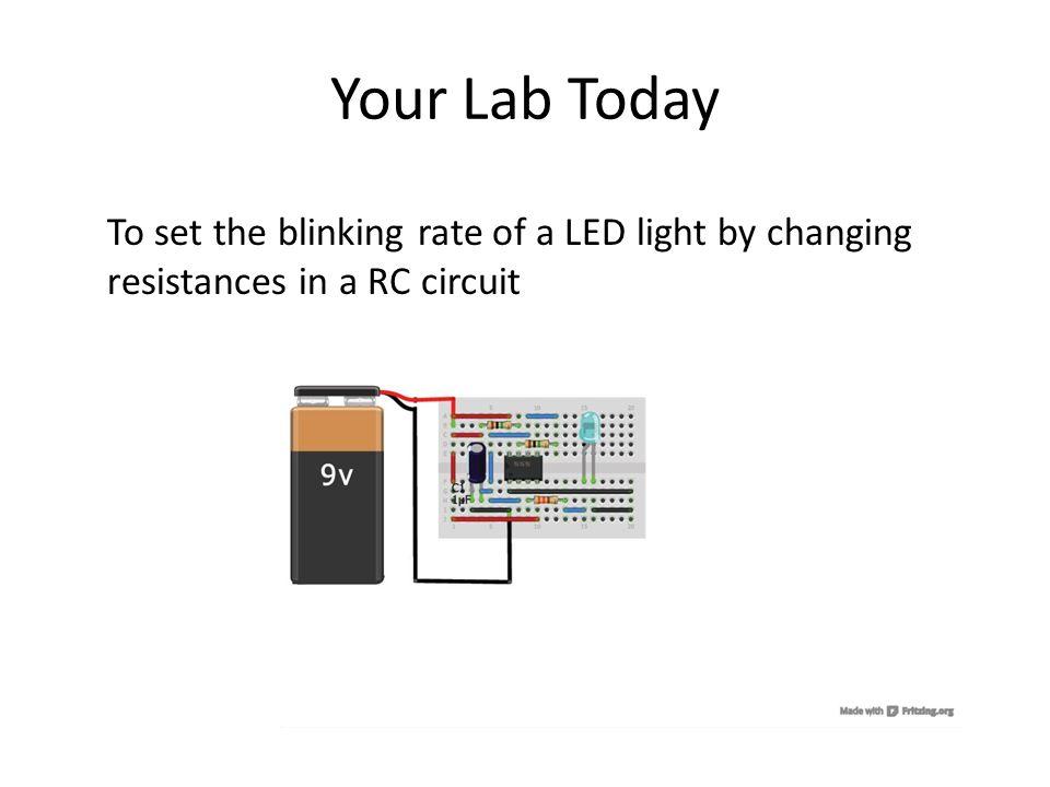 Blinking LED Lab David Luong Herrick Chang  Recall Capacitor Flash