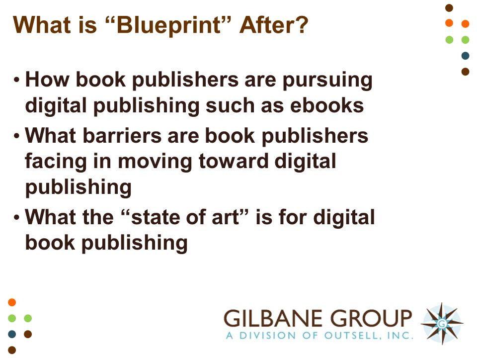 A blueprint for book publishing transformation content management what is blueprint after malvernweather Choice Image