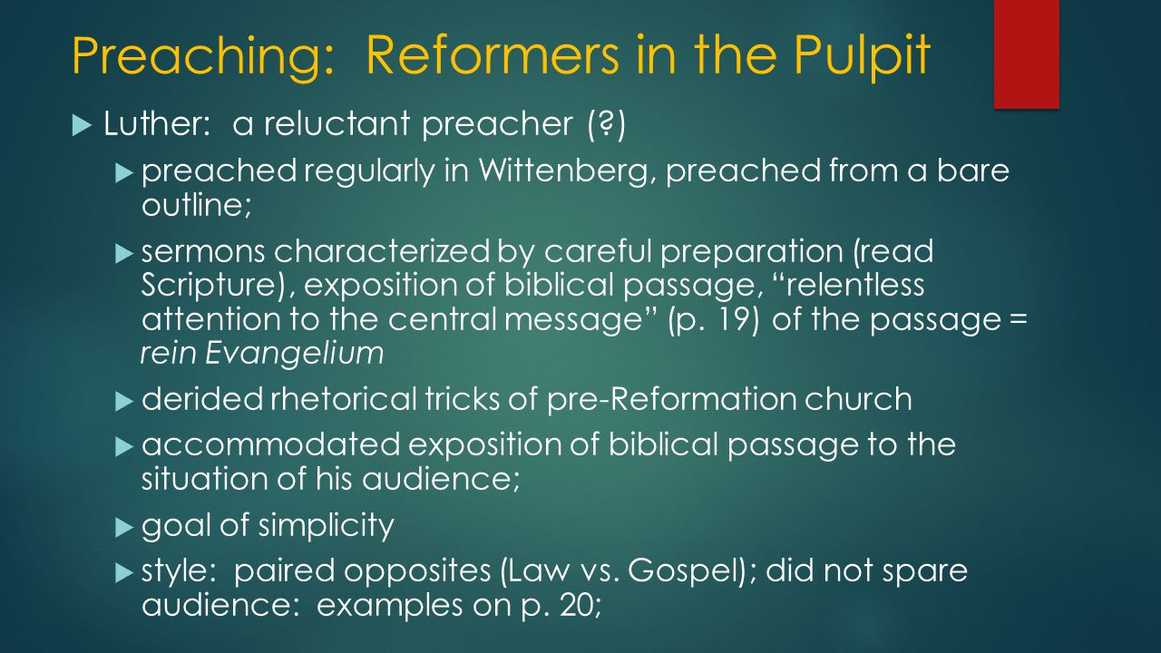 Discussion Questions 1  Did Protestant preaching pave the way for