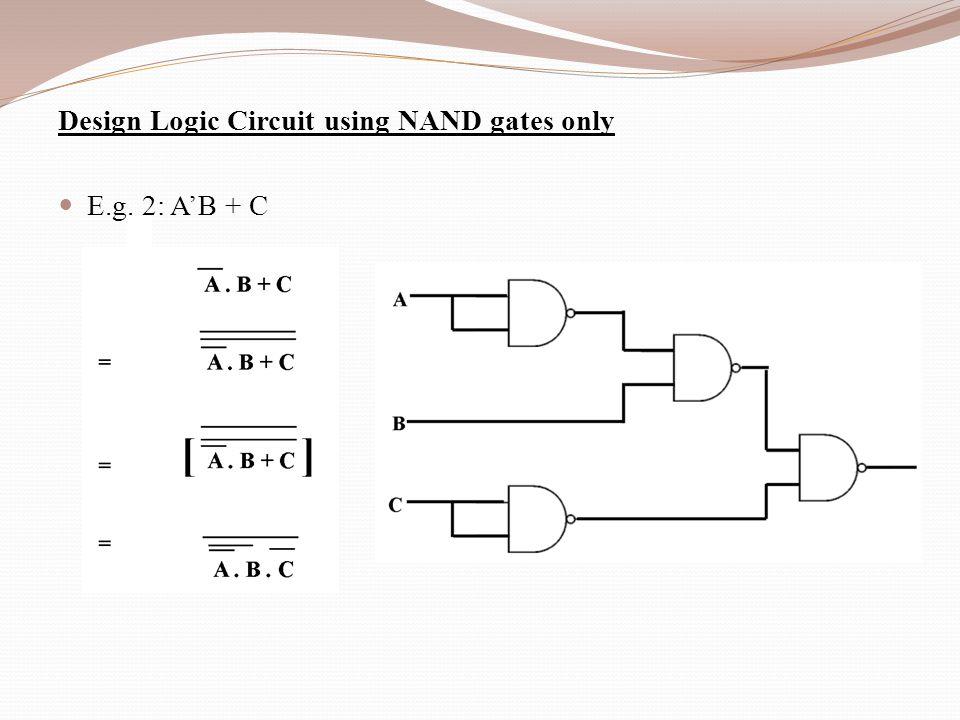 Logic Diagram Using Nand Gates Only - Data Wiring Diagram