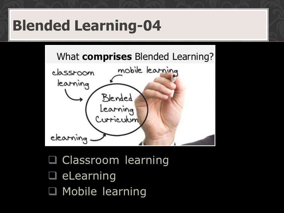  Classroom learning  eLearning  Mobile learning Blended Learning-04