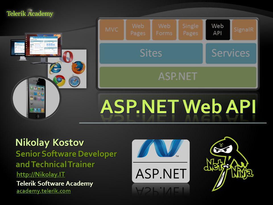 Nikolay Kostov Telerik Software Academy academy telerik com Senior