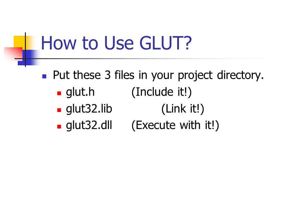 Write a Simple Program with OpenGL & GLUT  Books and Web