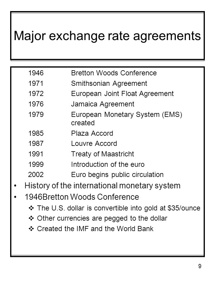 1 The International Monetary System Ims Official Part Of The