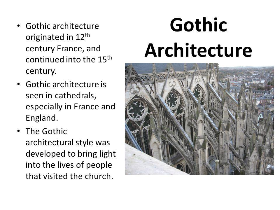 Gothic Art History 12 th century – 15 th century