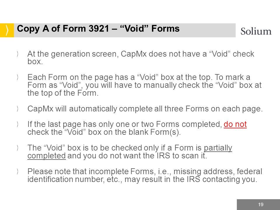 Capmx Form 3921 Copy A Hard Copy Filing Tax Year Ppt Download