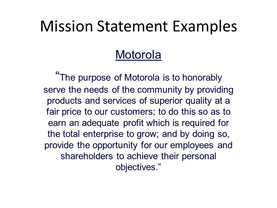 motorola values