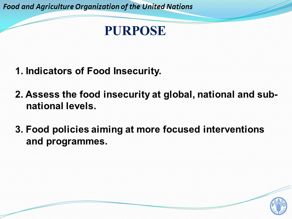 Food and Agriculture Organization of the United Nations 1.