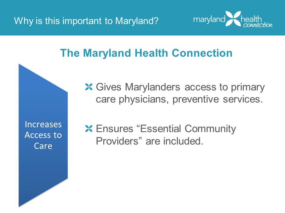 Why is this important to Maryland.