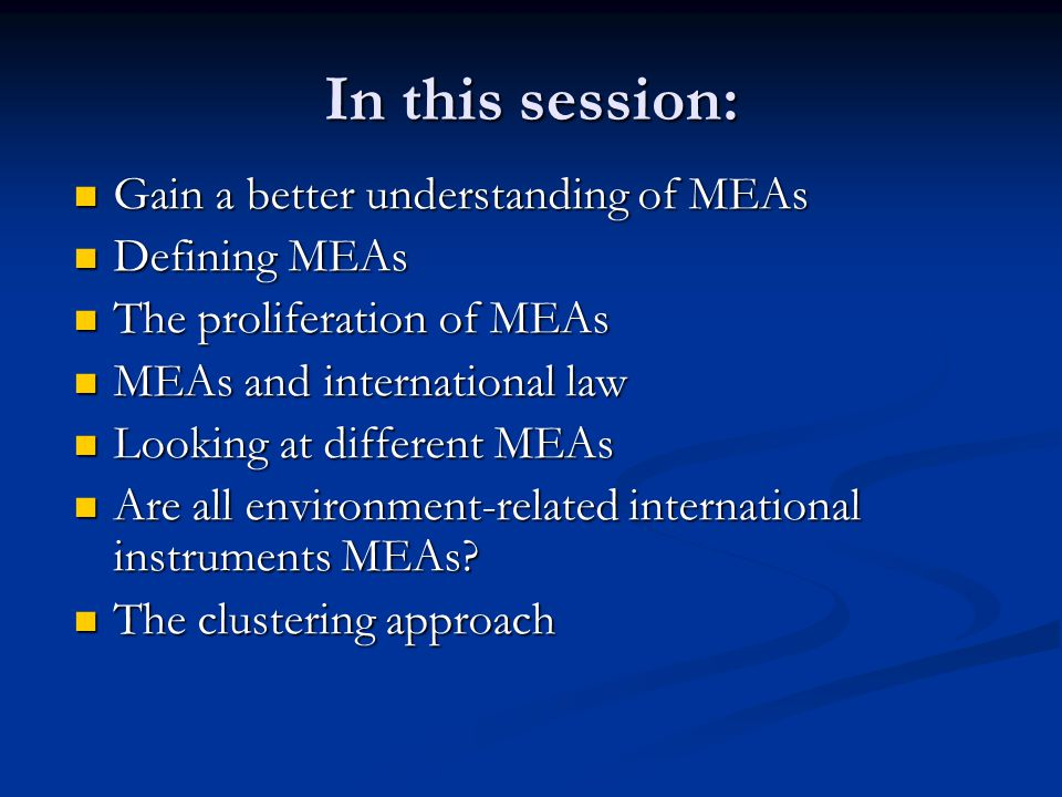 Understanding Multilateral Environmental Agreements Ppt Download