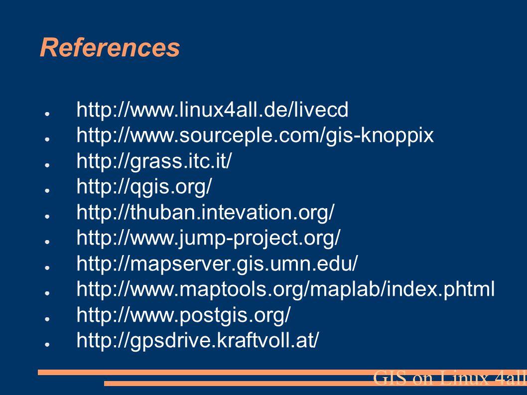 GIS on Linux 4all Project team: Jan Růžička František Klímek