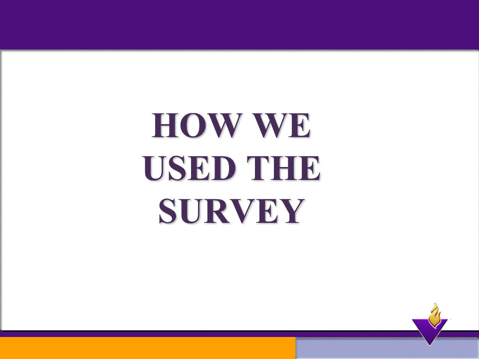 HOW WE USED THE SURVEY