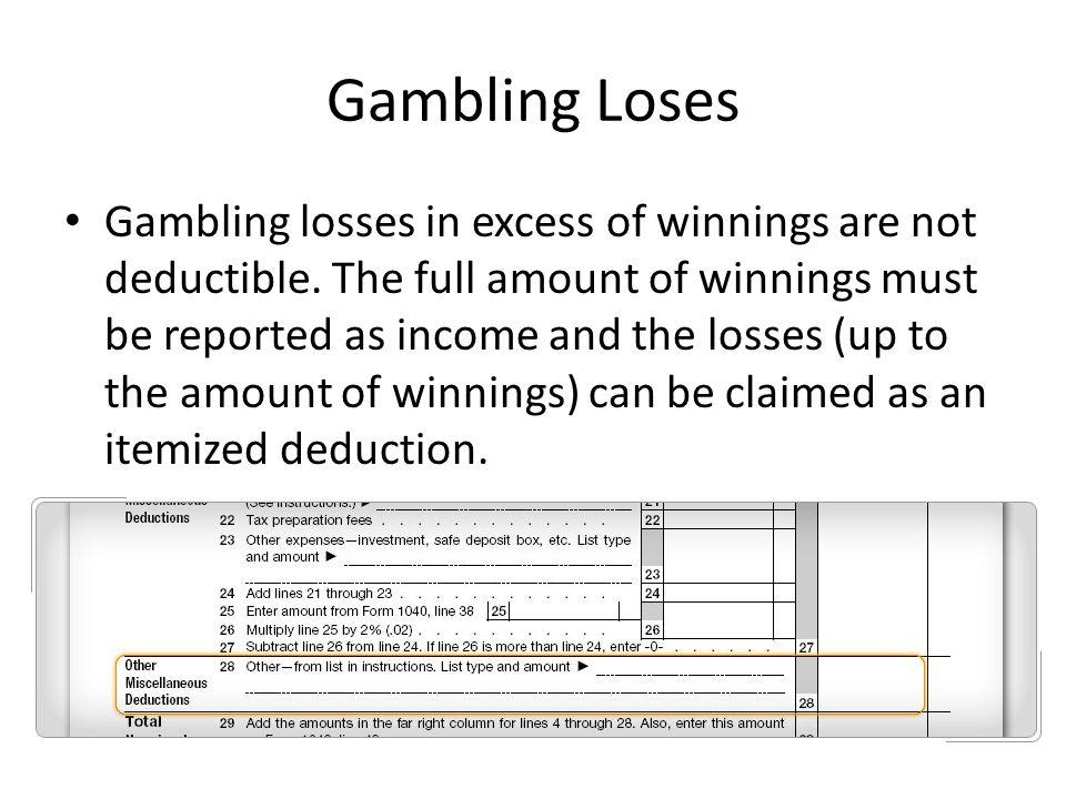 Gambling losses tax deduction free poker practice games