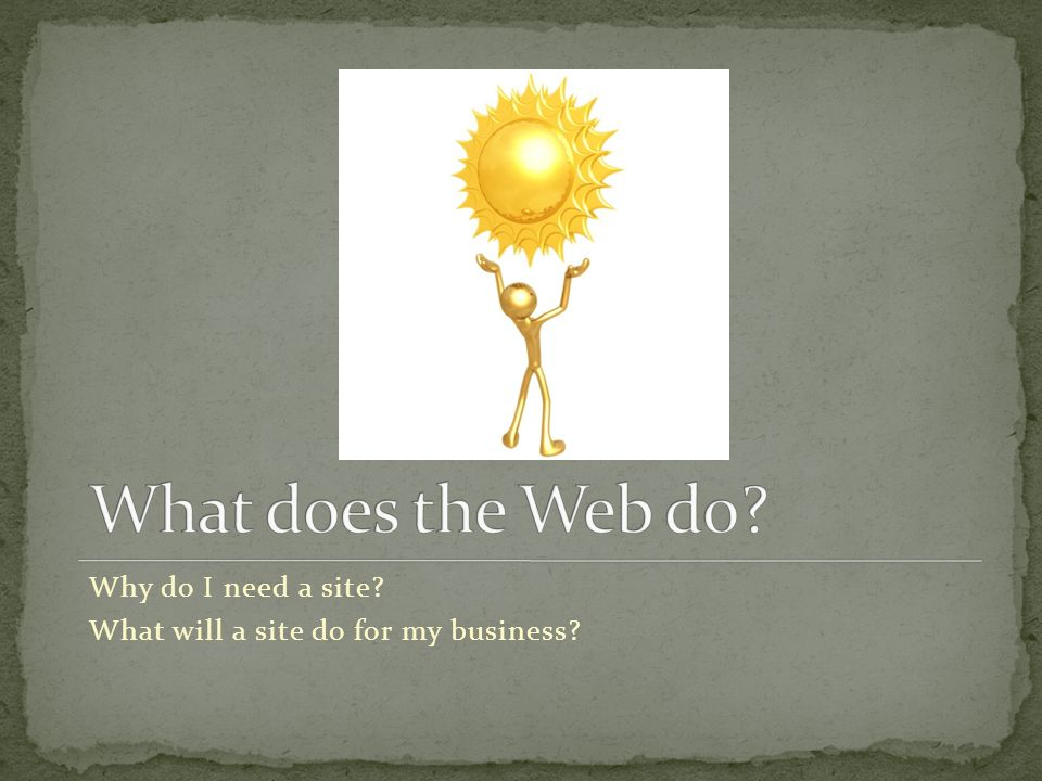 Why do I need a site What will a site do for my business