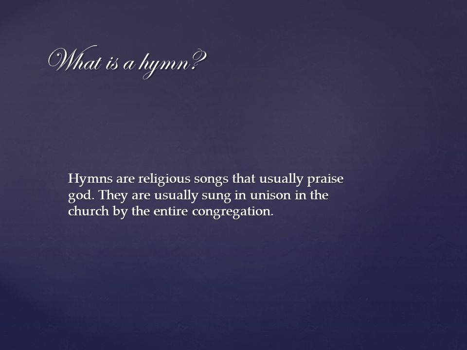 Hymnology The Music of the Church By Archduke Sean H  Moss