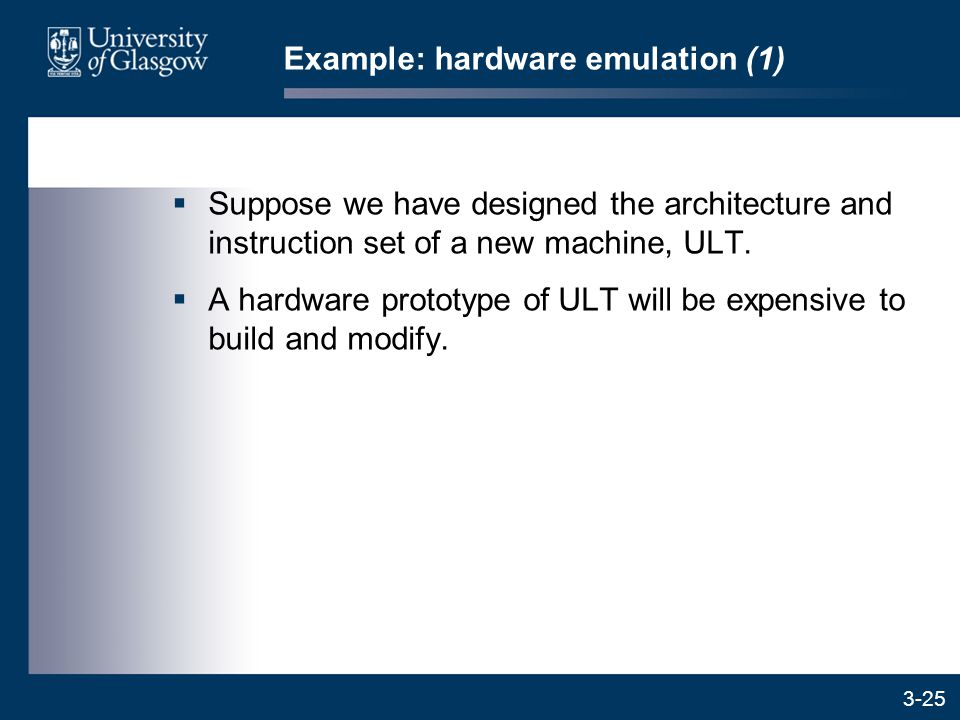 3-25  Suppose we have designed the architecture and instruction set of a new machine, ULT.