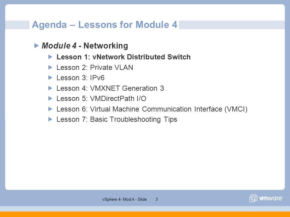VSphere 4 0 Module 4 – Networking Emiliano Turra Product