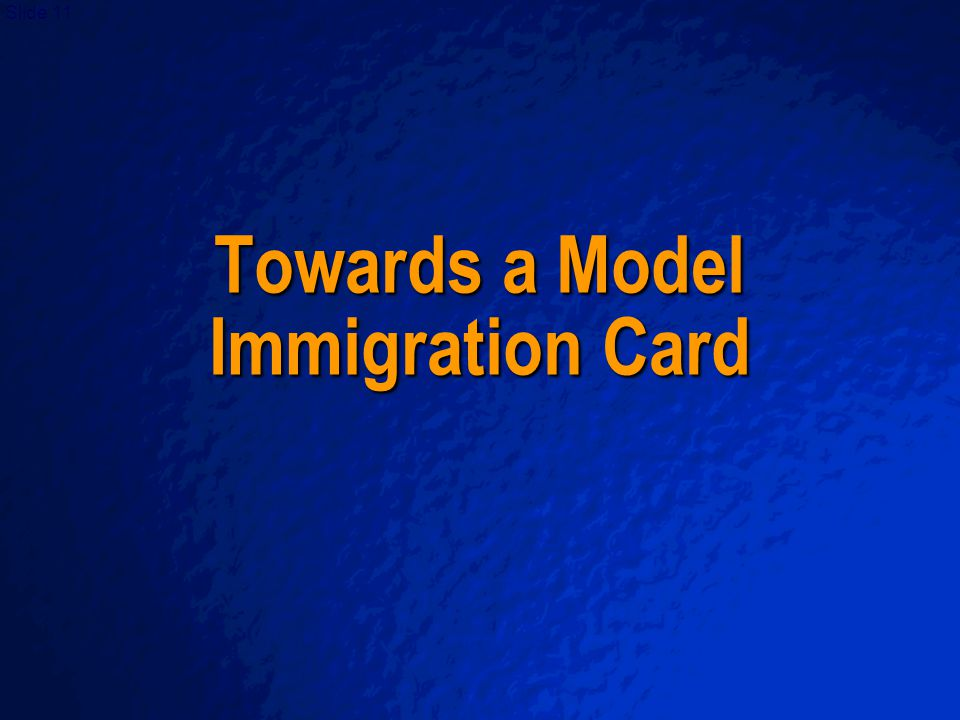 A Free sample background from   Slide 11 Towards a Model Immigration Card