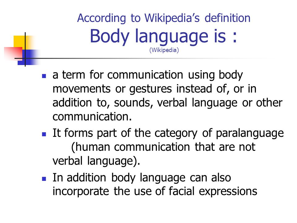 The importance of body language
