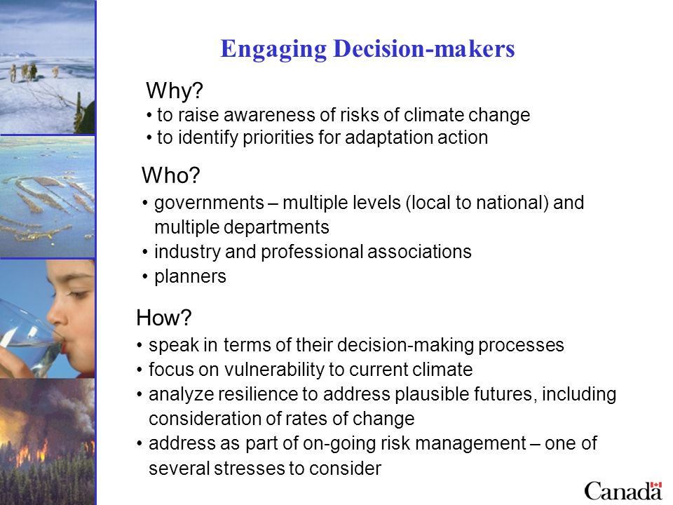 Engaging Decision-makers Who.