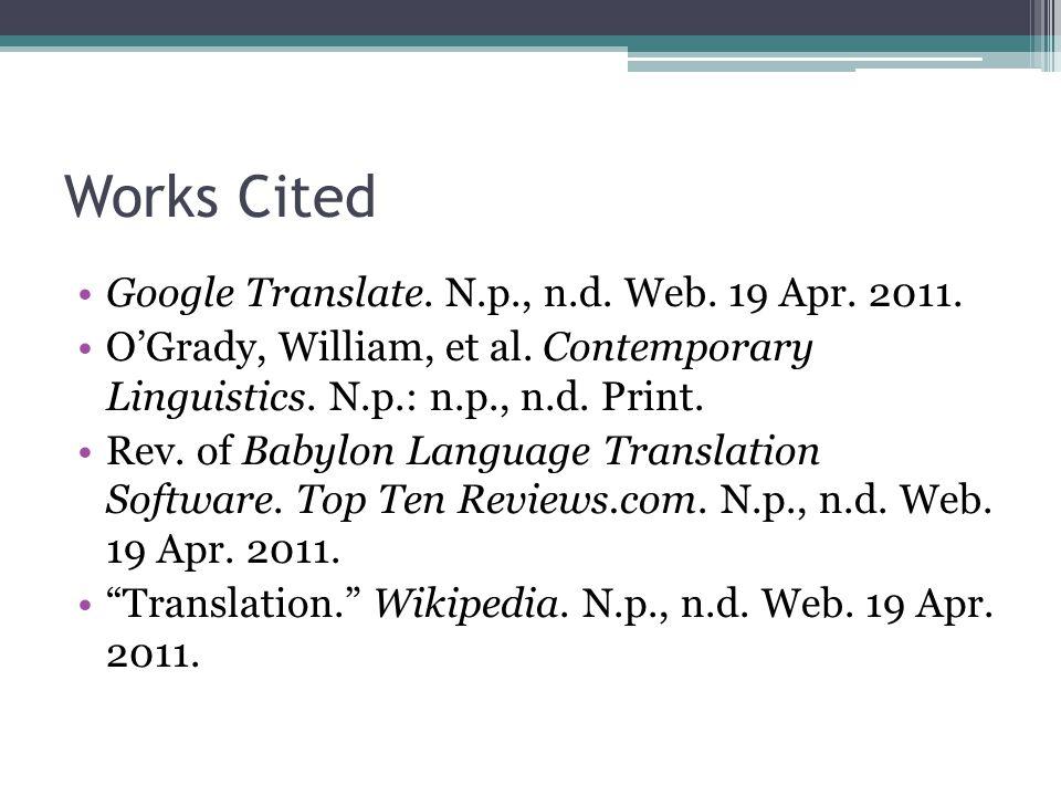 Language Translators By: Henry Zaremba  Origins of Translator