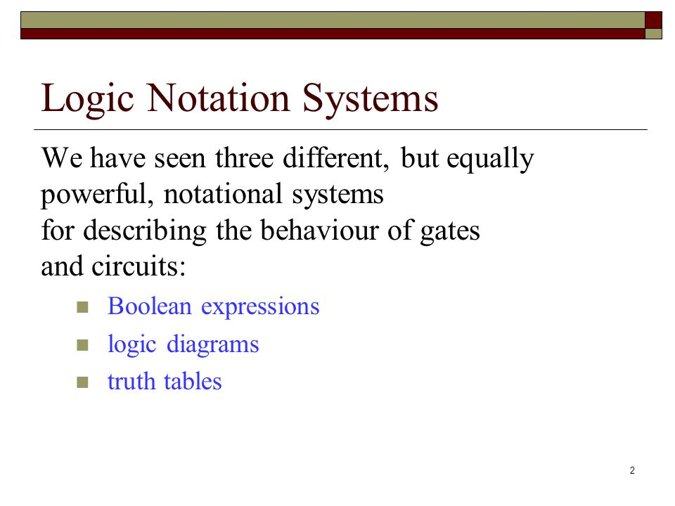 functional notation addendum to chapter 4 2 logic notation systems rh slideplayer com