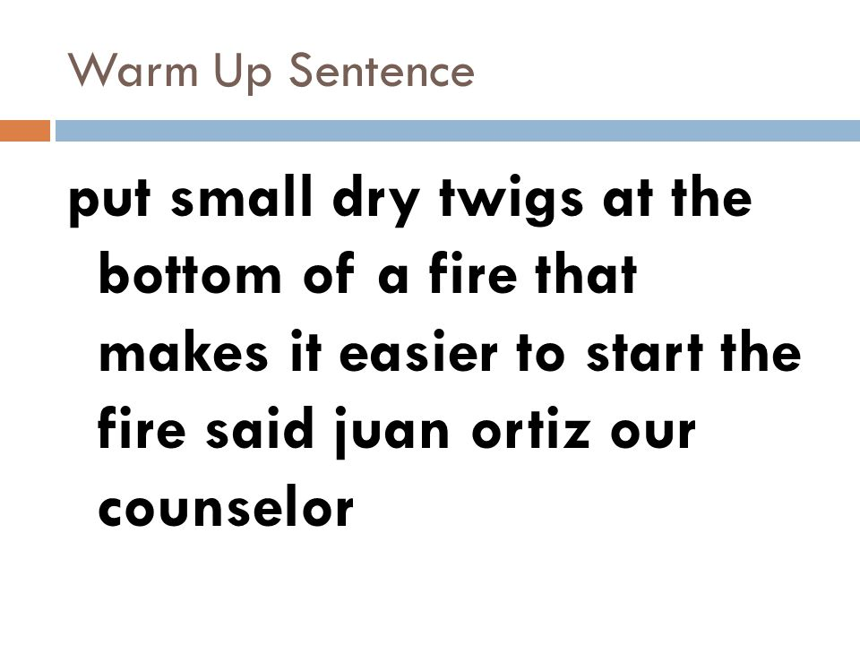 Warm Up Sentences Quarter 1 And 2 Warm Up Sentence Swimming Desperate To Reach The Shore A Light Was Seen In The Distance Ppt Download The word usage examples above have been gathered from various sources to reflect current and historial usage. warm up sentence swimming desperate