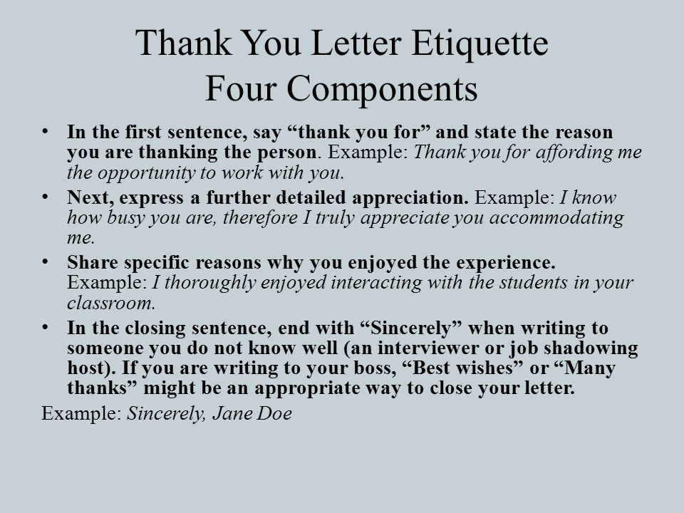 Business etiquette thank you letters and what is etiquette before 10 thank expocarfo Choice Image