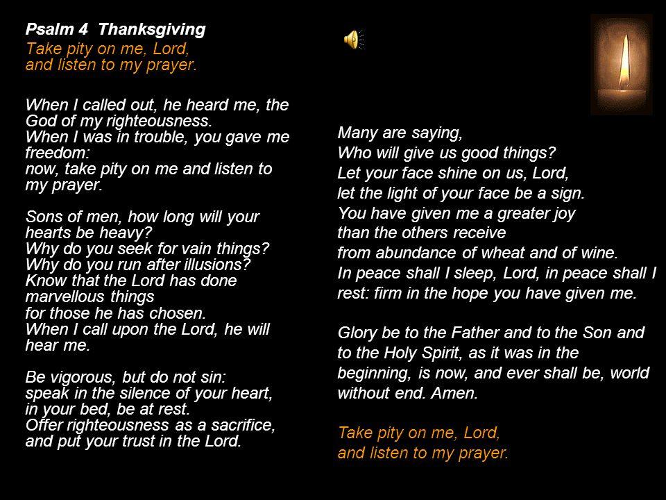 Night Prayer After Evening I Of Sundays And Solemnities O God Come