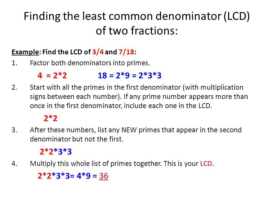 Printable Worksheets finding common denominator worksheets : Finding The Least Common Denominator Worksheets - Checks Worksheet
