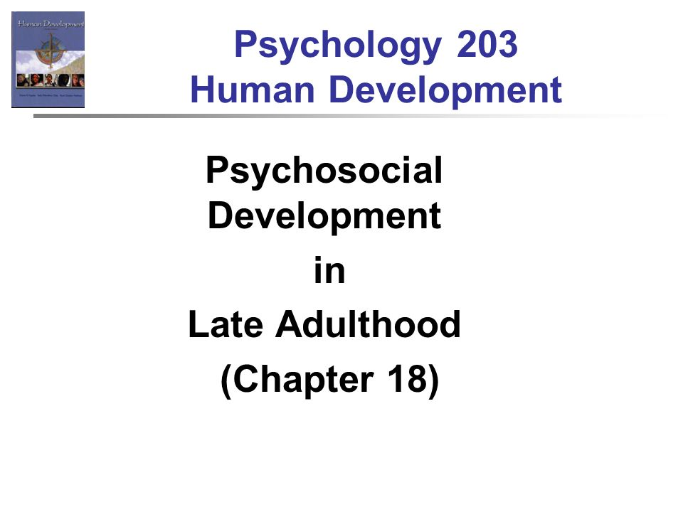late adulthood psychology