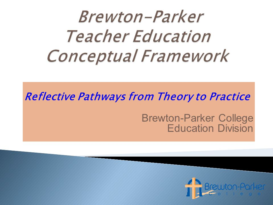 Reflective Pathways from Theory to Practice Brewton-Parker College Education Division