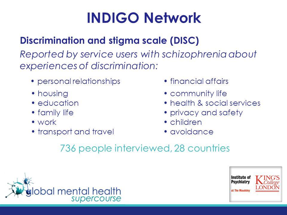 Evidence To Reduce Stigma Discrimination Graham Thornicroft Phd