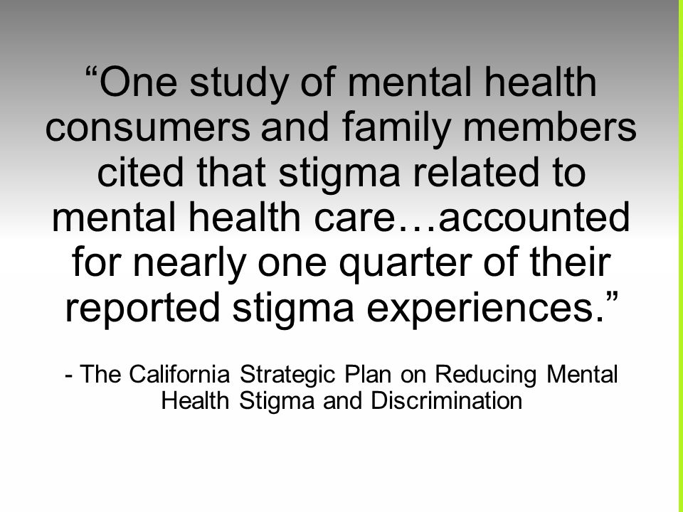 Reducing Stigma And Discrimination Against People With Mental Health