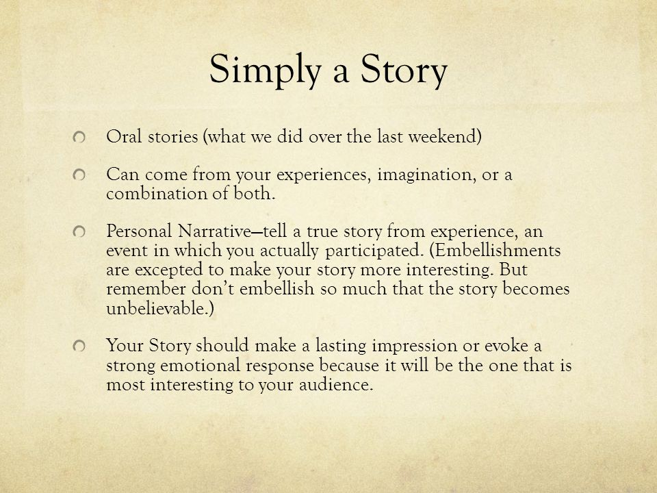 interesting personal stories