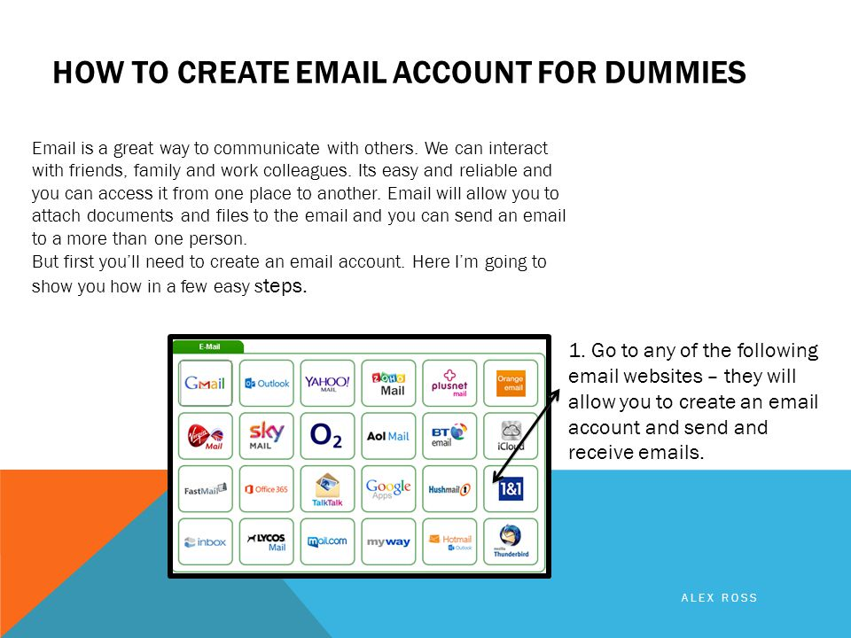 HOW TO CREATE  ACCOUNT FOR DUMMIES  is a great way to communicate with others.