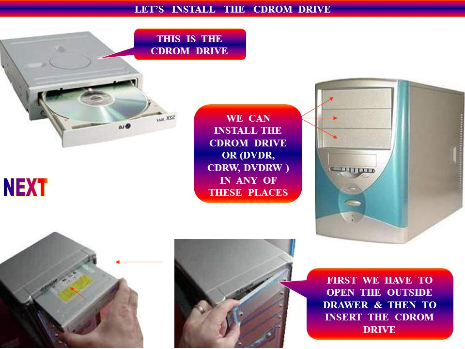 COMPACT DISK READ ONLY MEMORY CDROM THERE ARE DIFFERENT KINDS OF CDS, CD BAGS & HOLDERS WITH A DIFFERENT CAPACITY & SPEED