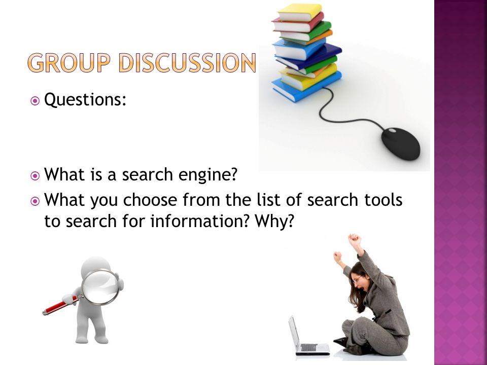 Questions:  What is a search engine.