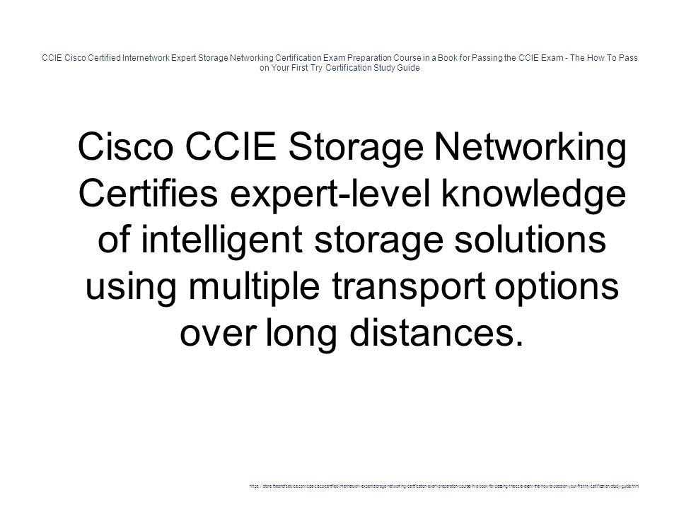 Ccie Cisco Certified Internetwork Expert Storage Networking