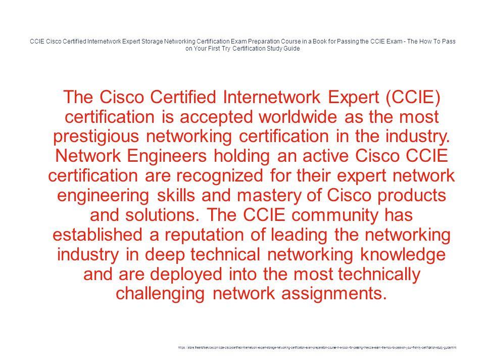 CCIE Cisco Certified Internetwork Expert Storage Networking ...