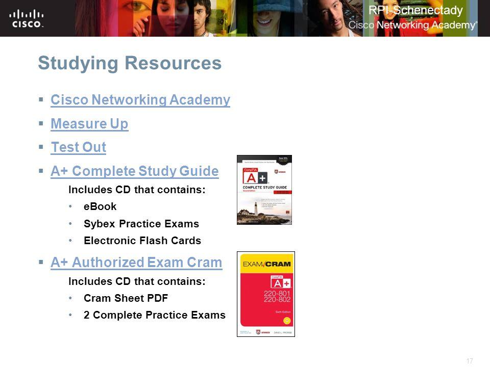 RPI-Schenectady Academy Support Center Instructor Training
