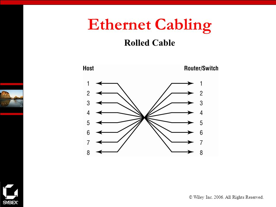 © Wiley Inc All Rights Reserved. Ethernet Cabling Rolled Cable