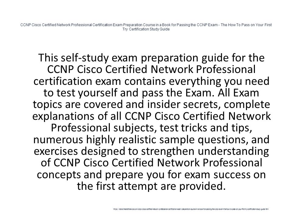 Ccnp Cisco Certified Network Professional Certification Exam