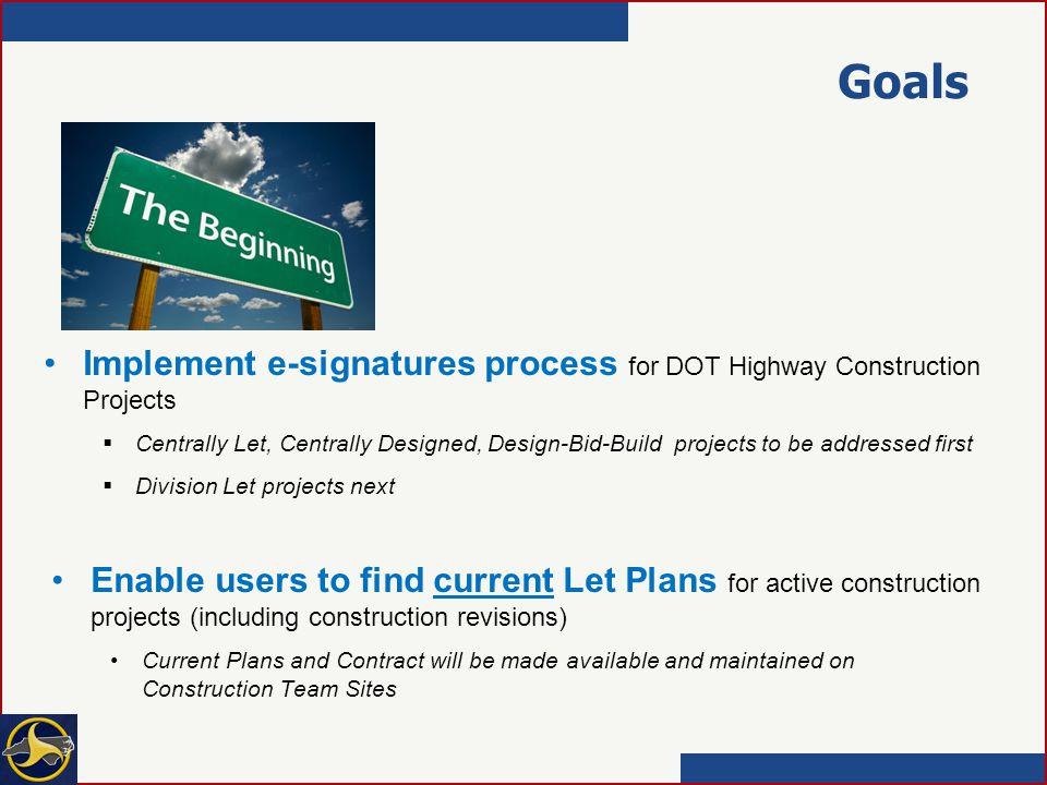 Let Plans /e-signatures overview 2/4/14  Goals Implement e