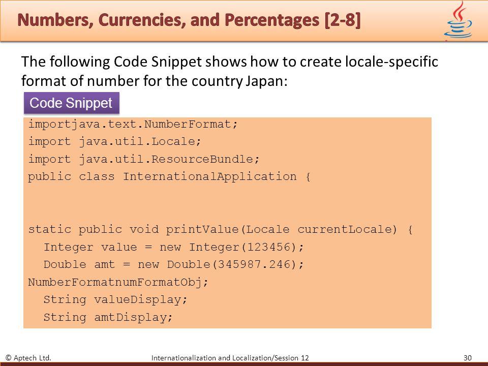 Object-oriented Programming in Java  © Aptech Ltd