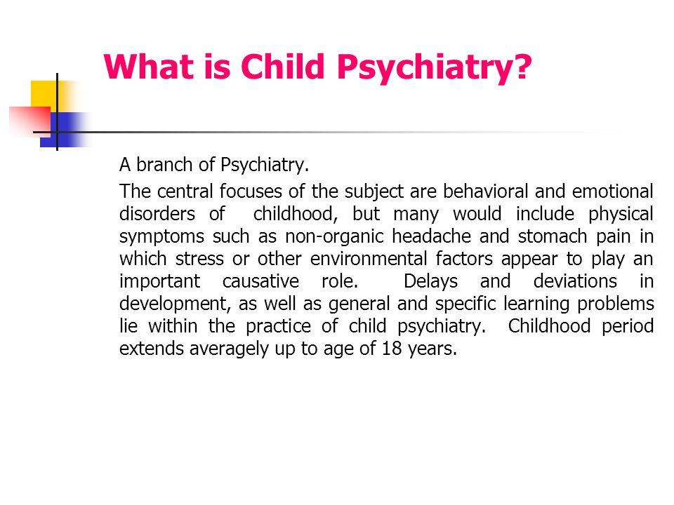 CHILD PSYCHIATRY Fatima Al-Haidar Professor, child
