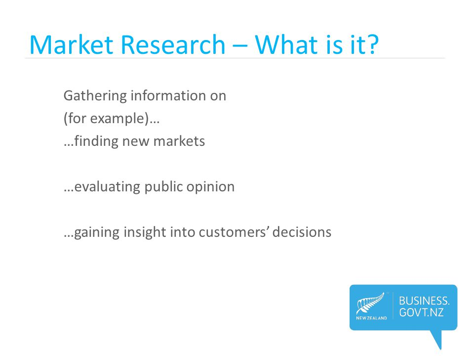 Market Research – What is it.
