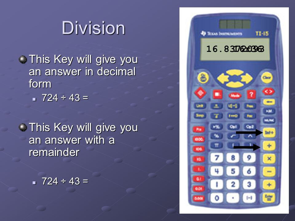 How To Use The TI 15 Calculator. Basic Steps This Presentation is a ...