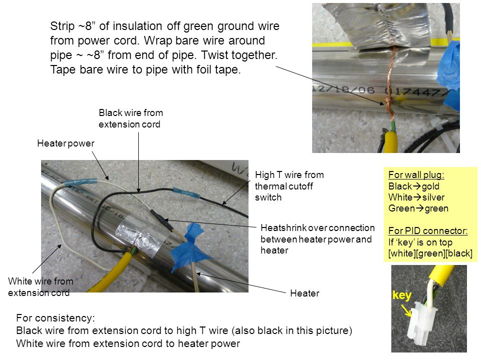 ff5fceacca7c Strip ~8 of insulation off green ground wire from power cord.