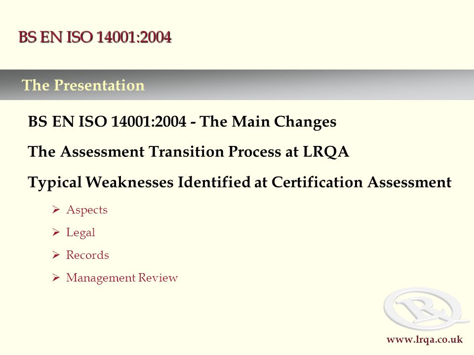 what is bs en iso 14001